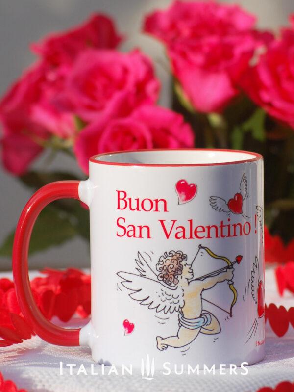 Valentine Mug CUPIDS and HEARTS by Italian SummersValentine's day mugs by Italian Summers. Make your San Valentino more Italian with these original designer mugs!