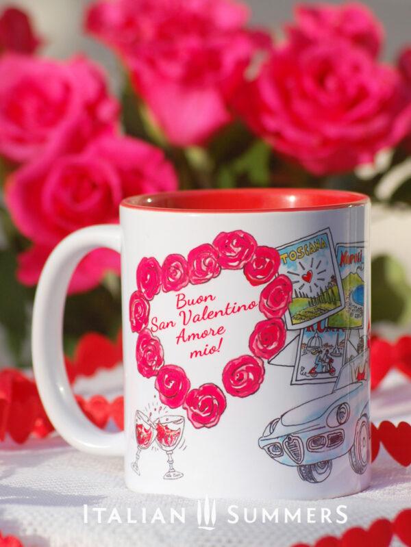 Saint Valentine 's Italian Mug designs by Italian SummersBuon San Valentino!