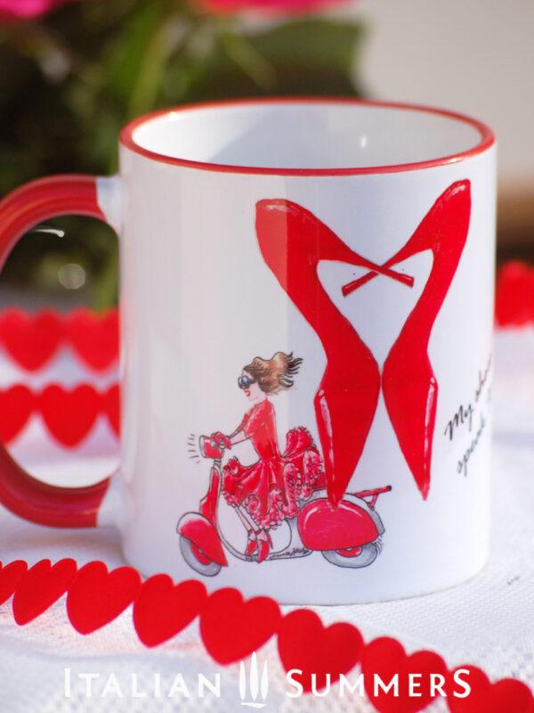 Valentine Mug Valentine Mug I JUST NEED VALENTINO by Italian Summers by Italian Summers Valentine's day mugs by Italian Summers. Make your San Valentino more Italian with these original designer mugs!