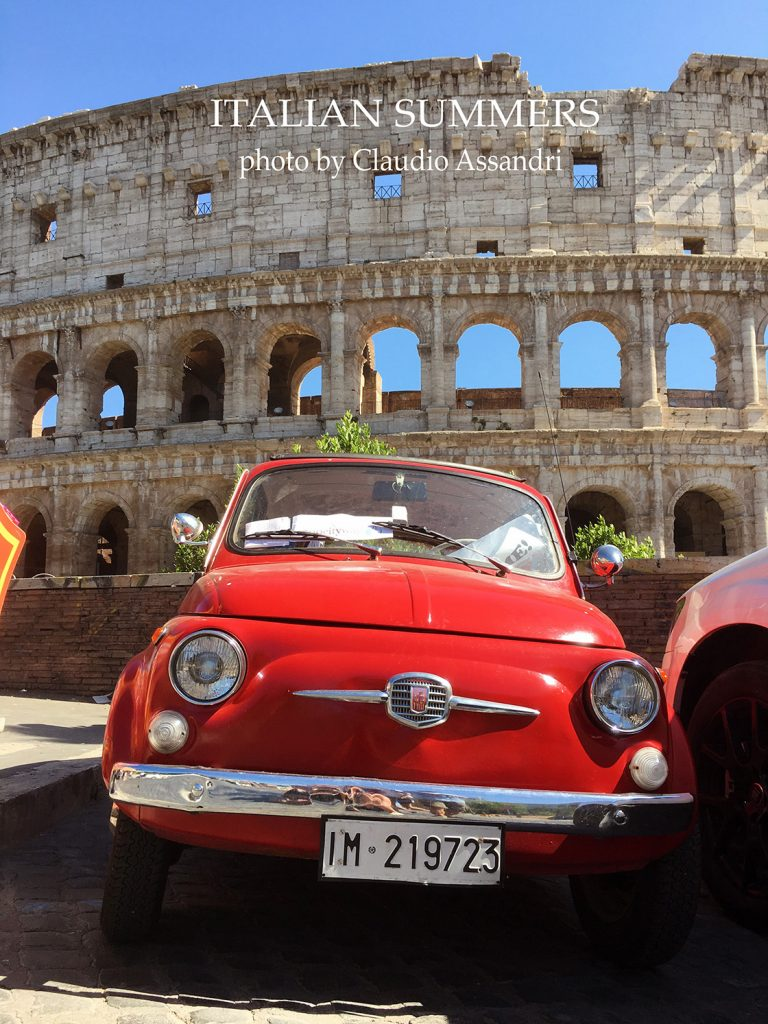 Vintage Cinquecento at Rome Colosseum by Lisa van de Pol