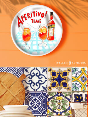 Wall Clock APERITIVO TIME by Italian Summers 2020