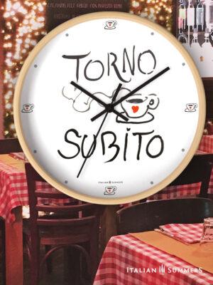 Wall Clock Torno Subito by Italian Summers