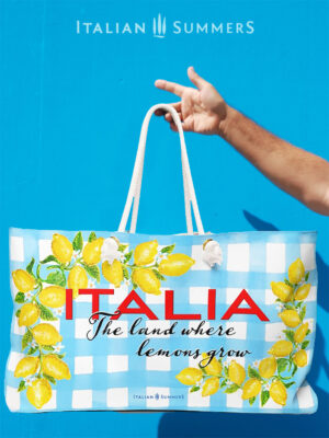 XL beach bag ITALY LAND OF LEMONS